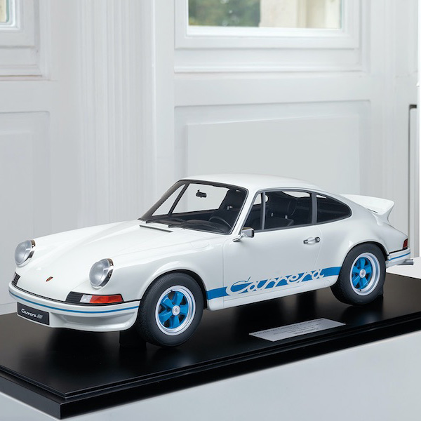 Porsche 911 Carrera RS 2.7 lightweight construction - 1972 - 1/8 white / blue decor