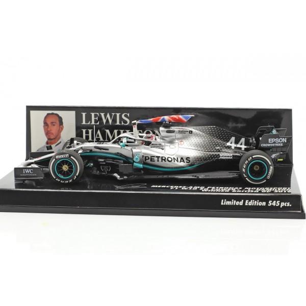 Lewis Hamilton Mercedes-AMG F1 W10 #44 British GP World Champion F1 2019 1/43