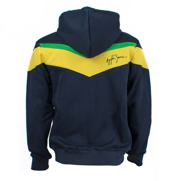 Ayrton Senna Hoody Racing back