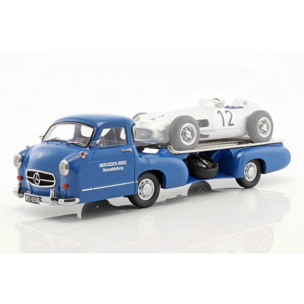 Mercedes-Benz race transporter The blue wonder year of construction 1955 1/18