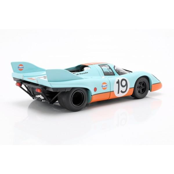 Porsche 917k Gulf #19 2nd 24h Le Mans 1971 Attwood, Müller 1:18