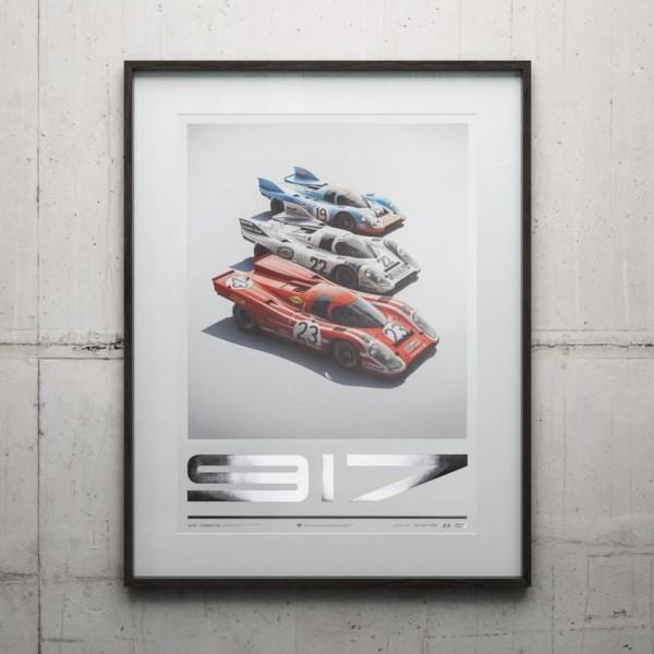 Poster Porsche 917 - Salzburg & Martini & Gulf - 24h Le Mans
