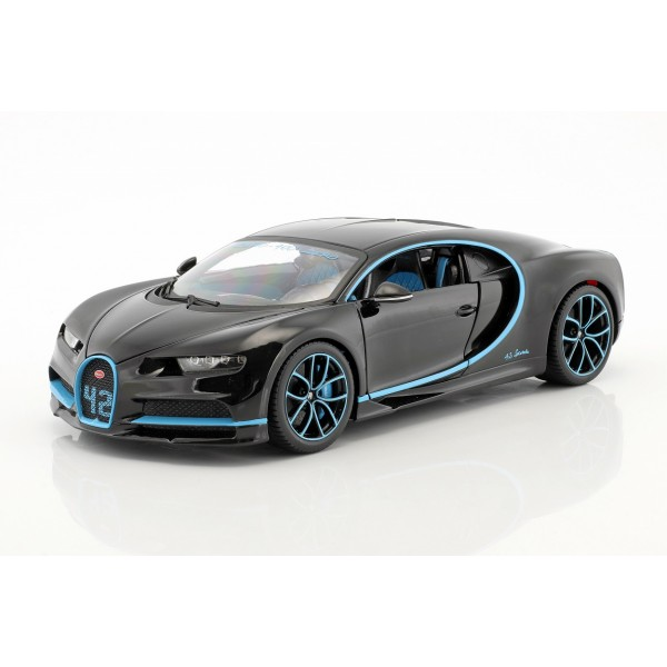 Bugatti Chiron World Record Car #42 J.-P. Montoya black 1/18