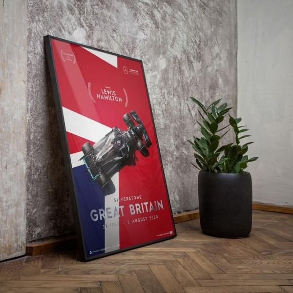 Poster Mercedes-AMG Petronas F1 Team - Great Britain GP 2020 - Lewis Hamilton