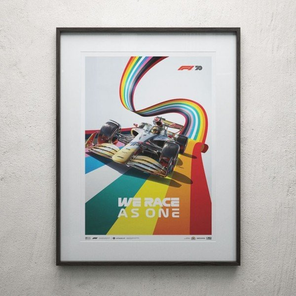 Poster Formula 1 - We Race As One - Fight against Inequality