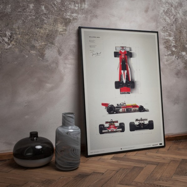 Poster James Hunt - McLaren M23 - Blueprint - Japanese GP - 1976