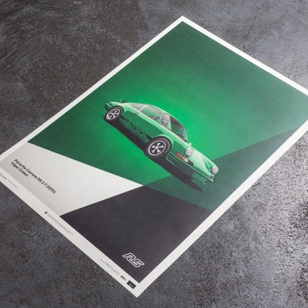 Poster Porsche 911 RS - Green