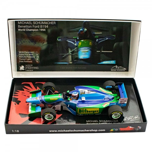 Michael Schumacher Benetton Ford B194 World Champion 1994 1/18
