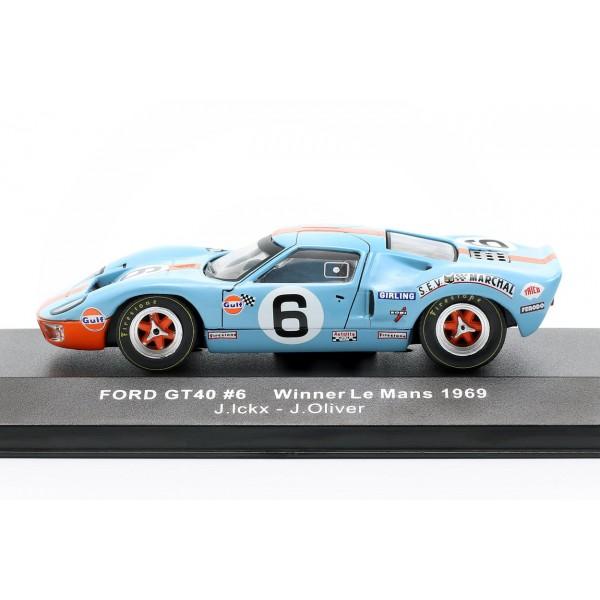 Ford GT40 Gulf #6 winner 24h LeMans 1969 Ickx, Oliver 1/43
