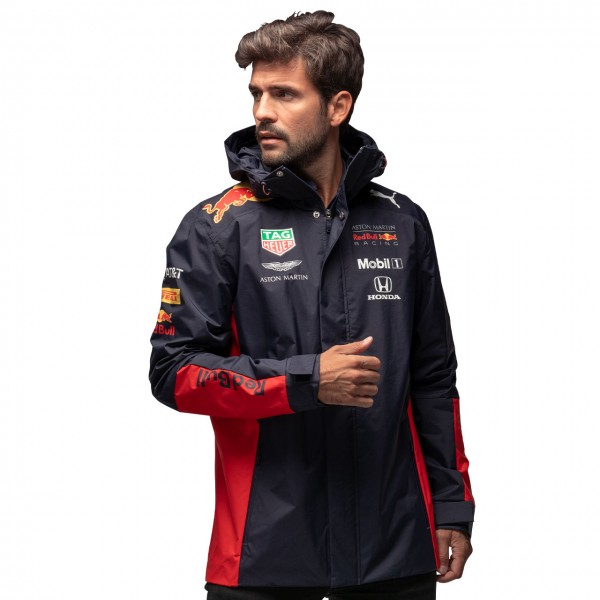 Red Bull Racing Team sponsor rain jacket navy blue