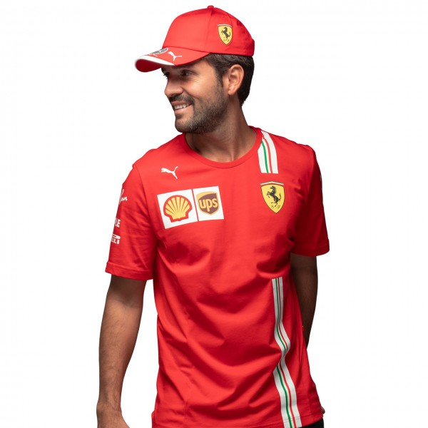 Scuderia Ferrari Men Leclerc T-Shirt red