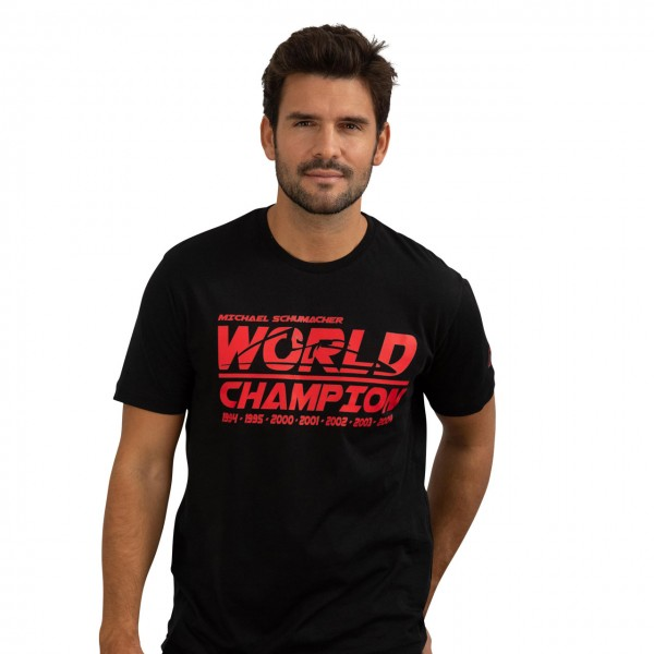Camiseta Negra Campeón Mundial Michael Schumacher