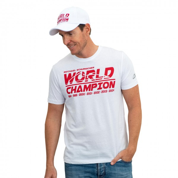 Michael Schumacher T-Shirt World Champion white