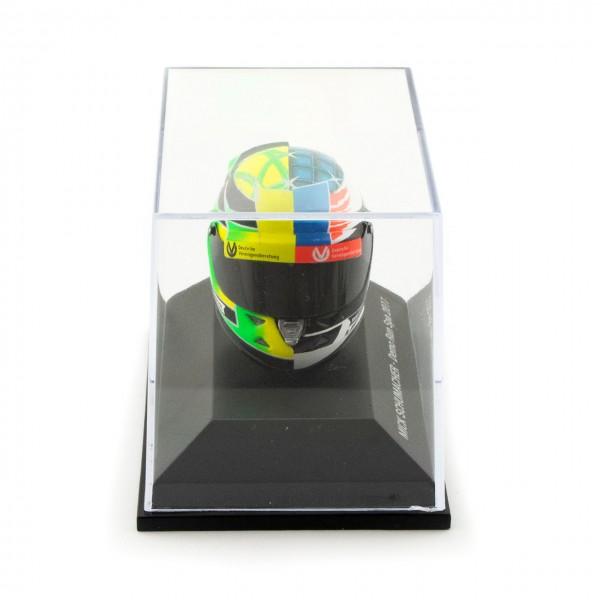 Mick Schumacher Miniaturhelm Belgien GP 2017 1:8