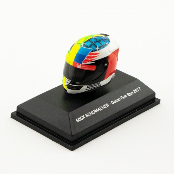 Mick Schumacher miniature helmet Belgium GP 2017 1/8