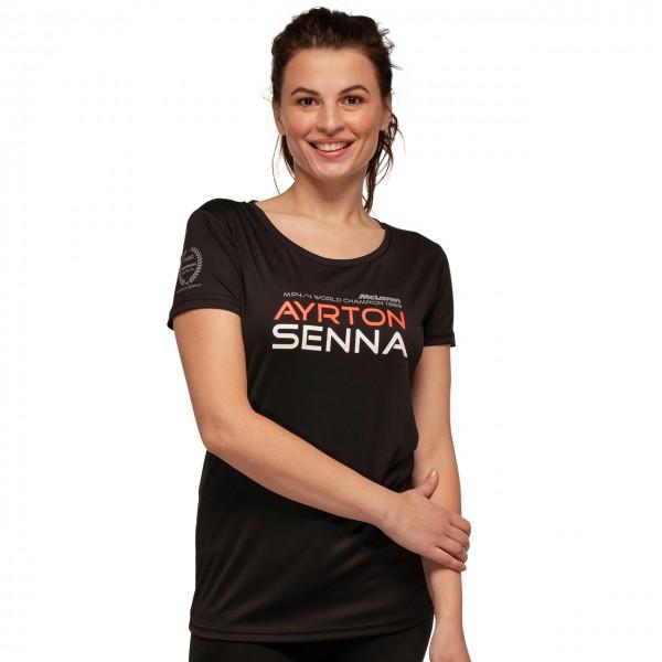 Ayrton Senna Damen T-Shirt McLaren World Champion 1988