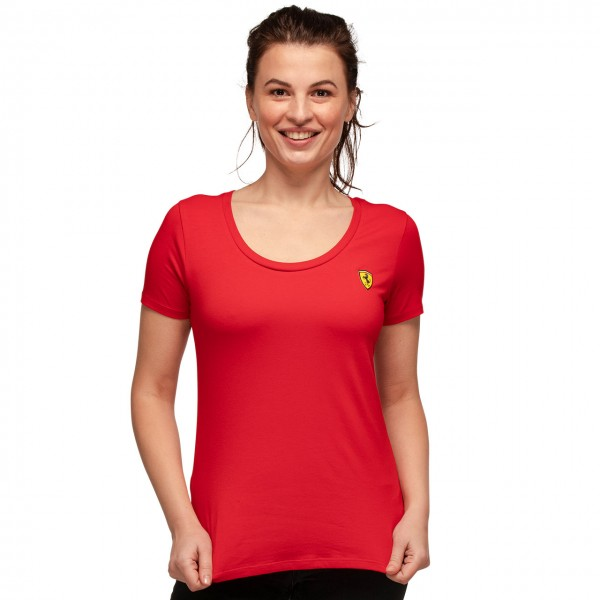 Scuderia Ferrari T-Shirt Femmes Petit logo rouge