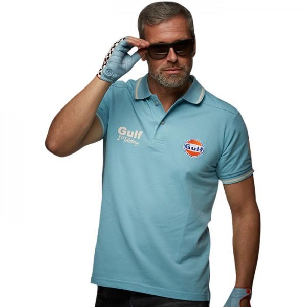 Gulf Poloshirt Vintage light blue