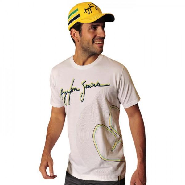 Ayrton Senna T-Shirt Track Lines