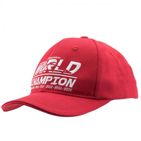 Michael Schumacher Cap Kids World Champion rot