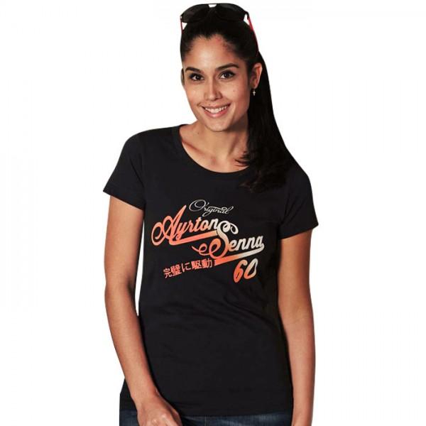 Ayrton Senna T-Shirt Femme Original 1960 bleu
