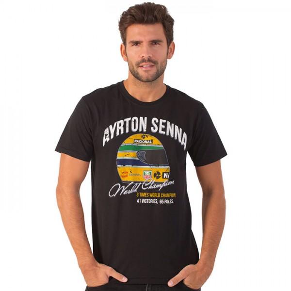 Ayrton Senna Camiseta Vintage World Champion