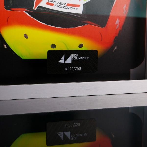 Mick Schumacher 2020 Cuadro del casco de carbono pintado a mano 2020