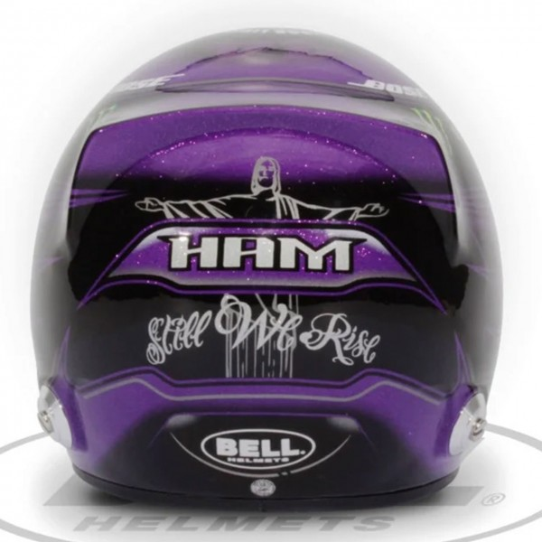 Lewis Hamilton miniature helmet Styrian GP 2020 1/2