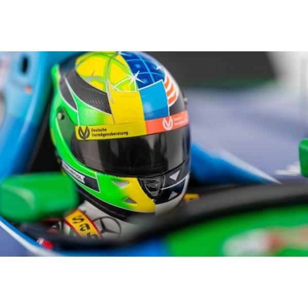 MBA-SPORT Mick Schumacher Casque miniature Belgique GP 2017 1:8