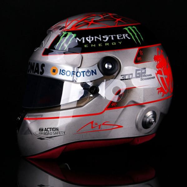 Michael Schumacher Replica Platinum Helmet 1/1 Spa 300th GP 2012