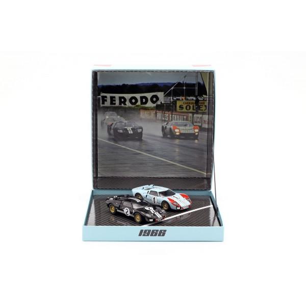 2-Car Set Ford GT40 MK II #2 #1 Winner and 2nd 24h LeMans 1966 1/43