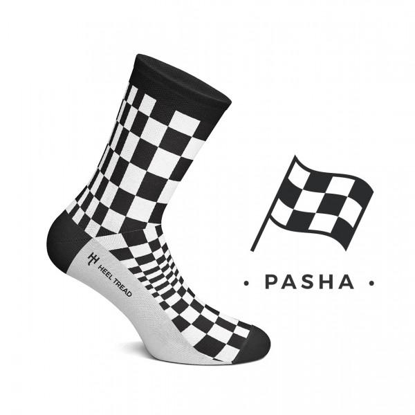 Pasha Socks black/white