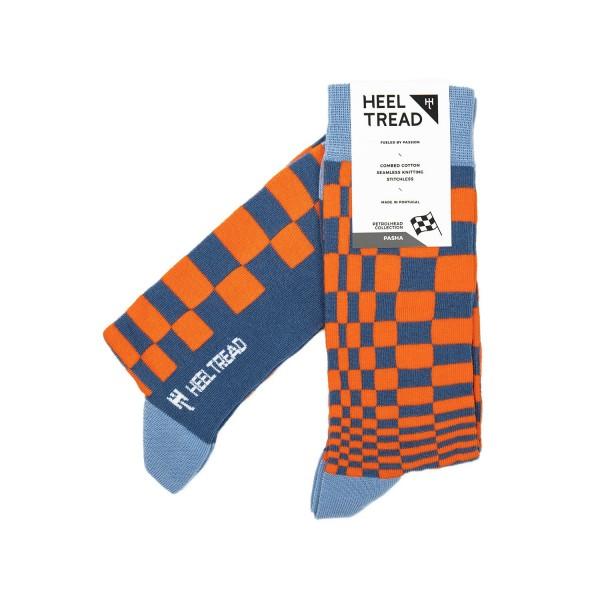 Pasha Socks orange/navy
