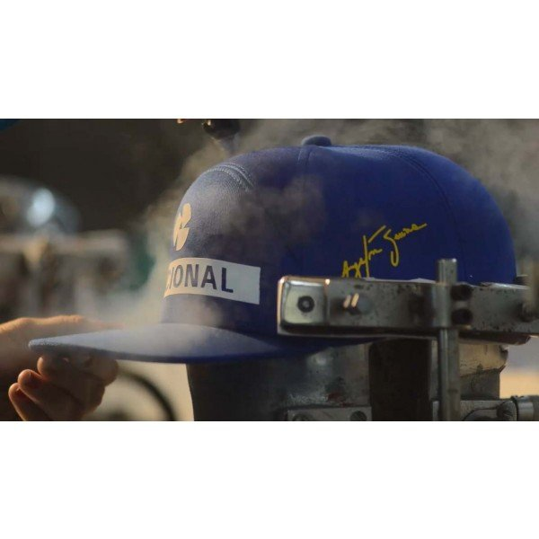 Ayrton Senna Replica Cap Nacional production