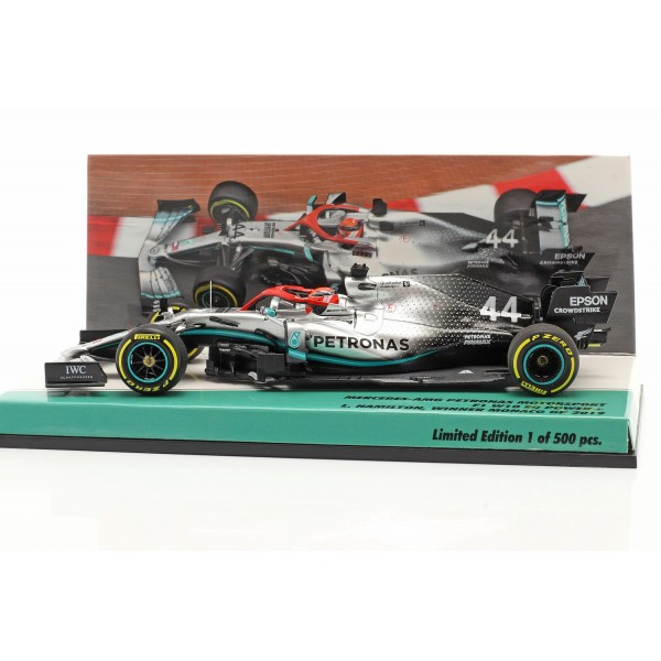 Lewis Hamilton Mercedes-AMG F1 W10 #44 Monaco GP World Champion F1 2019 1/43