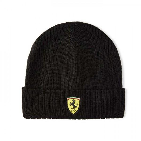 Scuderia Ferrari Bonnet tricoté noir