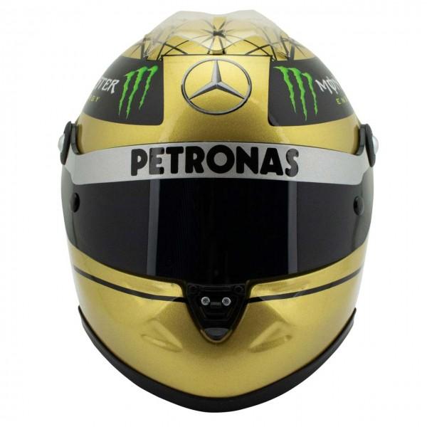 Michael Schumacher Spa 2011 Casque d'or 1/2