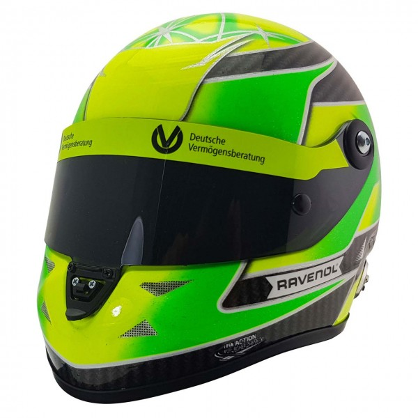Mick Schumacher Casque miniature Belgique Spa 2018 Champion de Formule 3 1/2