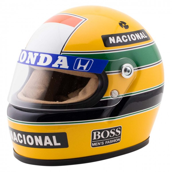 Ayrton Senna helmet 1988 scale 1/2