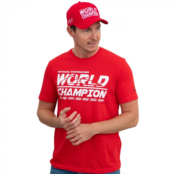 Michael Schumacher T-Shirt Champion du Monde rouge