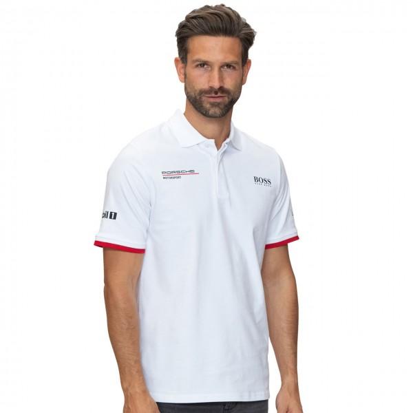 Porsche Motorsport Team Poloshirt white