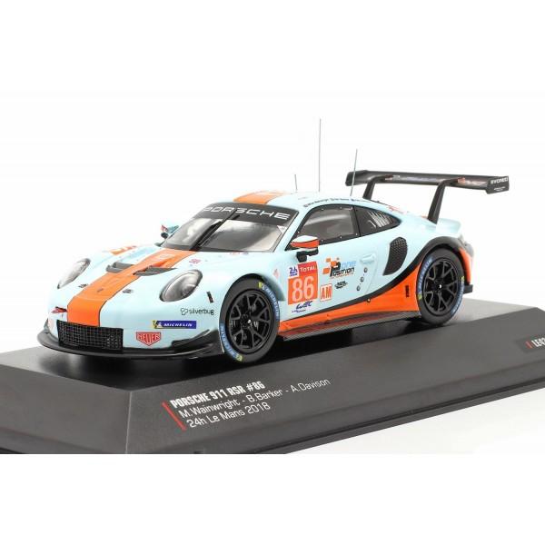 Porsche 911 (991) RSR Gulf #86 24h LeMans 2018 1/43