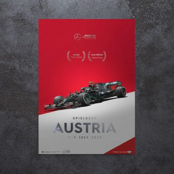 Poster Mercedes-AMG Petronas F1 Team - Austrian GP 2020 - Valtteri Bottas