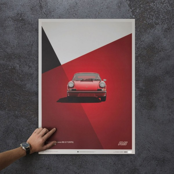 Poster Porsche 911 RS - Red