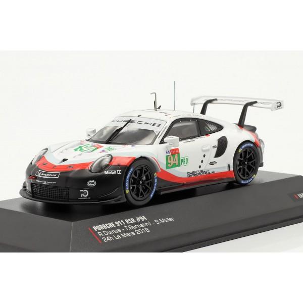 Porsche 911 (991) RSR #94 24h LeMans 2018 Dumas, Bernhard, Müller 1/43