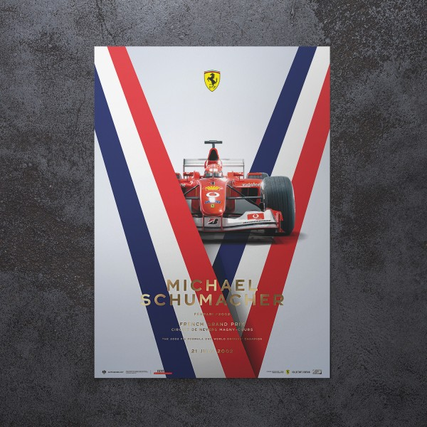 Poster Michael Schumacher - Ferrari F2002 - Frankreich GP 2002