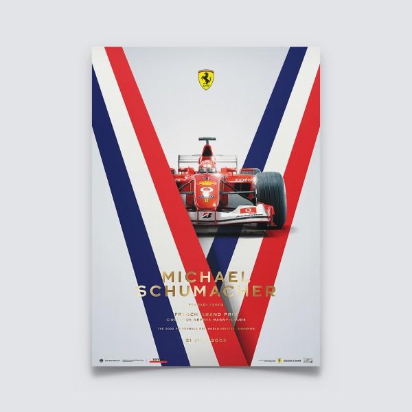 Poster Michael Schumacher - Ferrari F2002 - Francia GP 2002