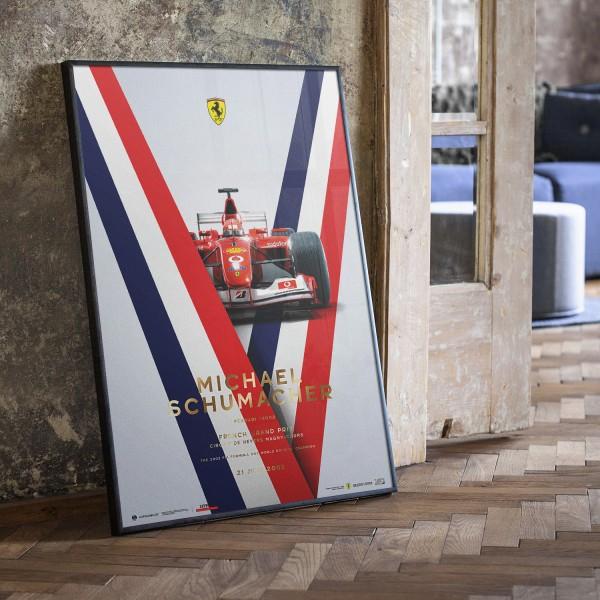 Poster Michael Schumacher - Ferrari F2002 - French GP 2002