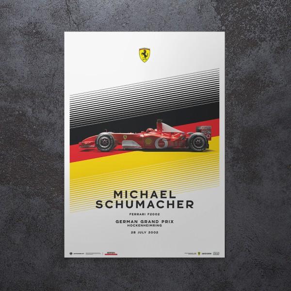 Poster Michael Schumacher - Ferrari F2002 - German GP 2002