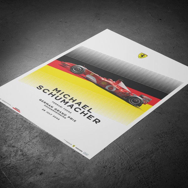 Poster Michael Schumacher - Ferrari F2002 - Germania GP 2002